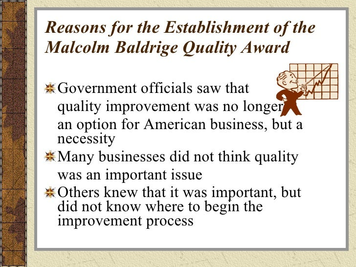 malcolm baldrige national quality program paper Read this essay on baldridge essay the baldrige national quality award program was established by the malcolm baldrige national quality award is named.