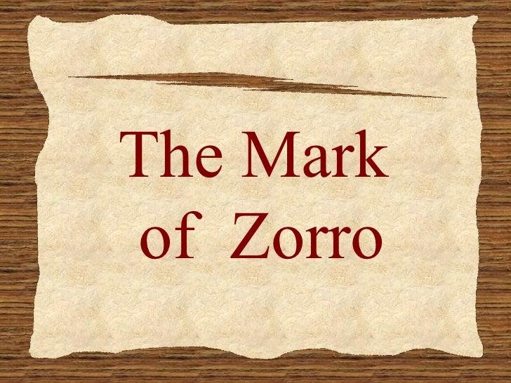 The Mark Of Zorro Slide 2