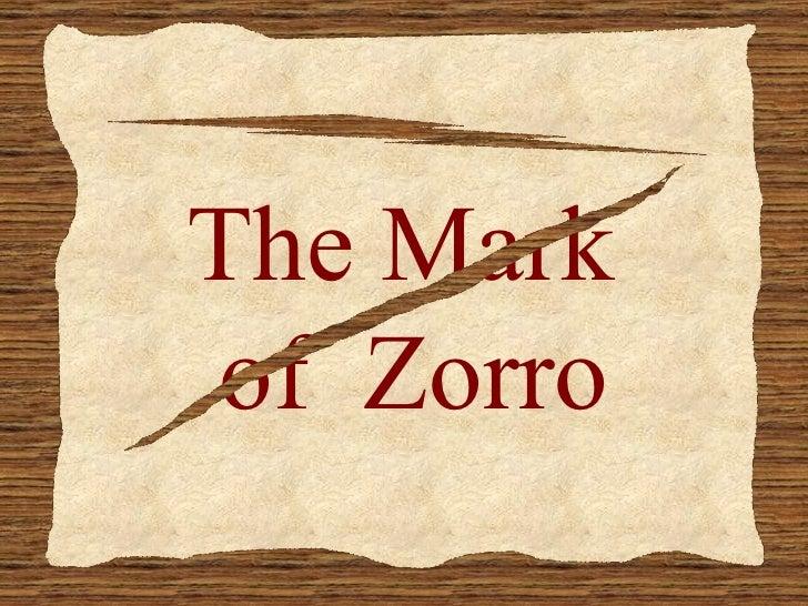 The Mark Of Zorro Slide 3