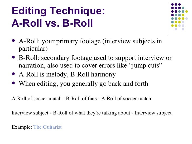 b roll example