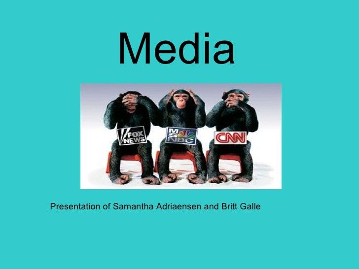 Presentation of Samantha Adriaensen and Britt Galle  Media