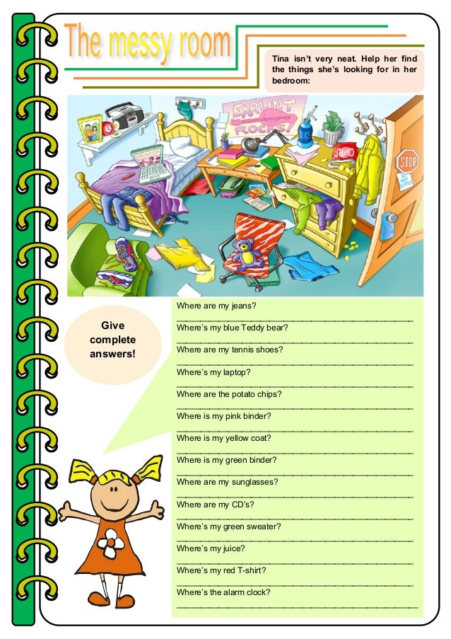 The Messy Room Prepositions
