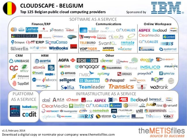 CLOUDSCAPE - BELGIUM Top 125 Belgian public cloud computing providers Sponsored by v1.0, February 2014 Download a digital ...