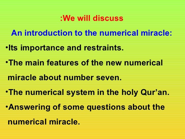 :We will discuss An introduction to the numerical miracle:•Its importance and restraints.•The main features of the new num...