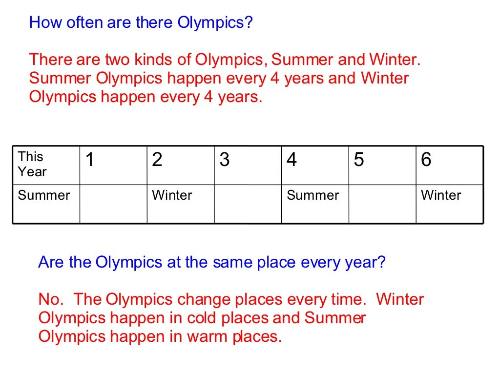 The how olympics often are