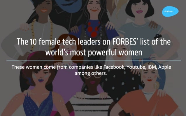 The Most Powerful Wowen in Tech Slide 2
