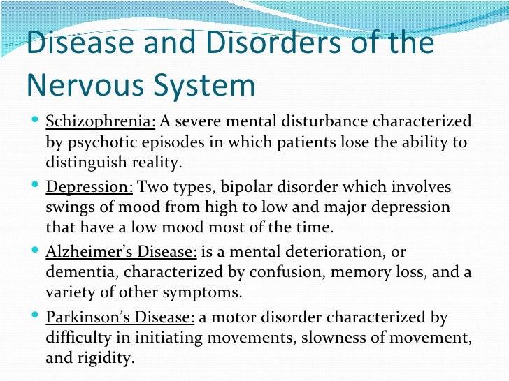G nervous system  Major Nervous System Disorders