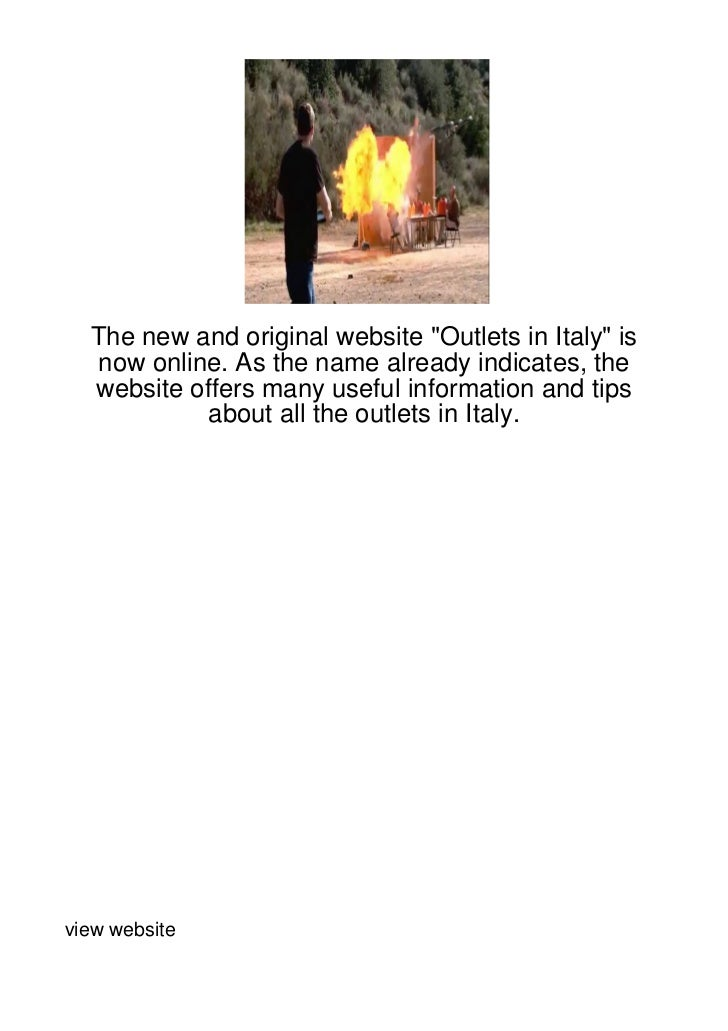 "The new and original website ""Outlets in Italy"" is  now online. As the name already indicates, the  website offers many us..."