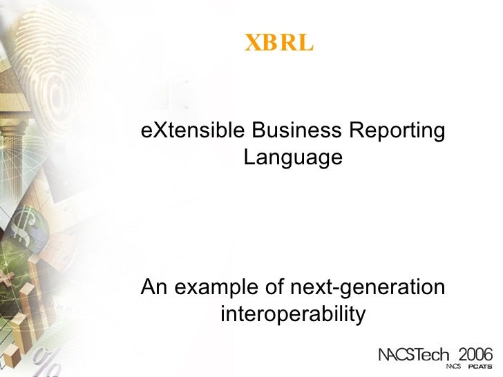 Extensible business reporting language definition asha