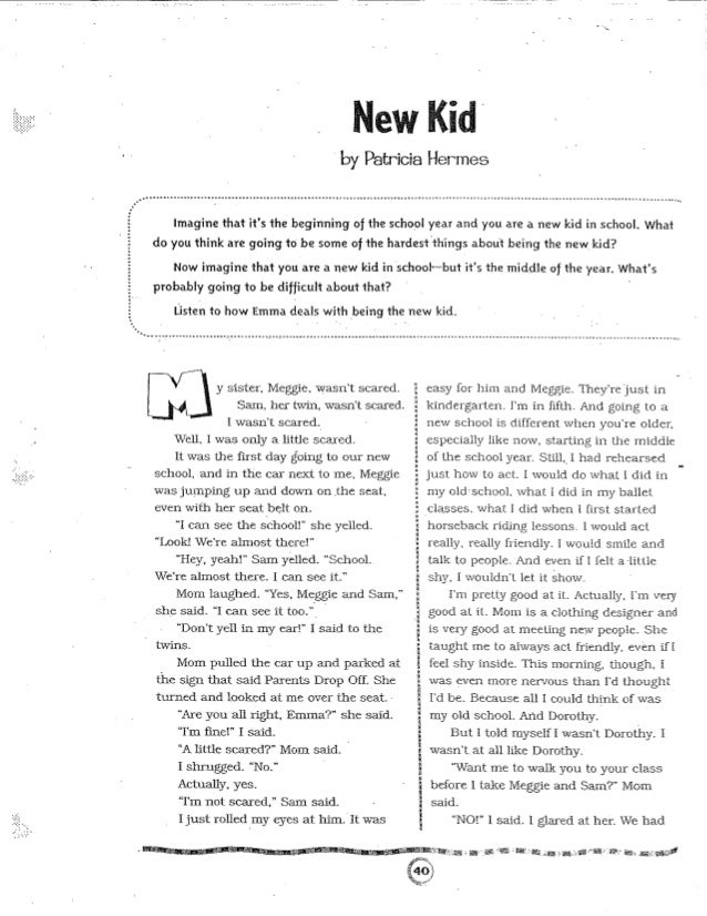 Printables Image Of Short Story For Kid new kid short story the story