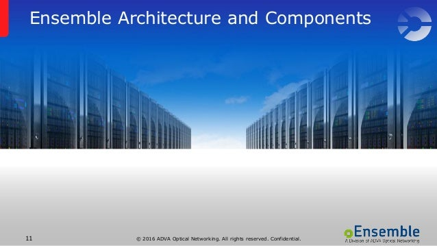 © 2016 ADVA Optical Networking. All rights reserved. Confidential.11 Ensemble Architecture and Components