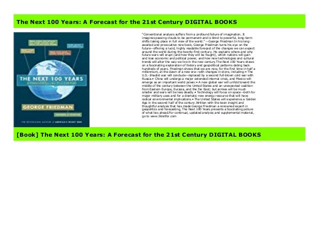 The Next 100 Years >> The Next 100 Years A Forecast For The 21st Century Paperback