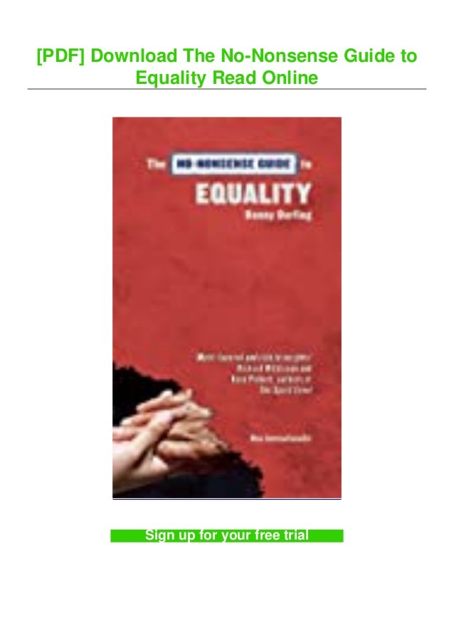 [PDF] Download The No-Nonsense Guide to Equality Read Online Sign up for your free trial