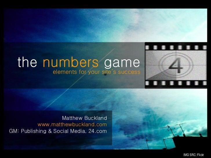 <ul><li>Matthew Buckland </li></ul><ul><li>www.matthewbuckland.com </li></ul><ul><li>GM: Publishing & Social Media, 24.com...