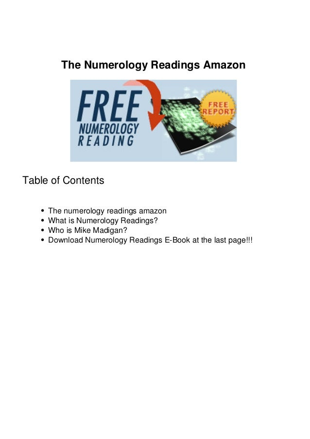 The Numerology Readings Amazon Table of Contents The numerology readings amazon What is Numerology Readings? Who is Mike M...