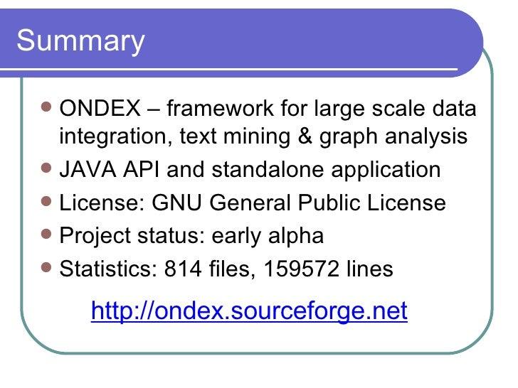 The Ondex Data Integration Framework Slide 2