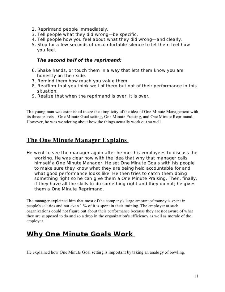 the one minute manager  11