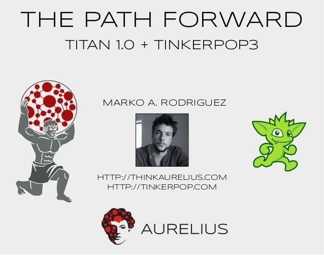 THE PATH FORWARD  TITAN 1.0 + TINKERPOP3  MARKO A. RODRIGUEZ  http://THINKAURELIUS.COM  http://TINKERPOP.COM