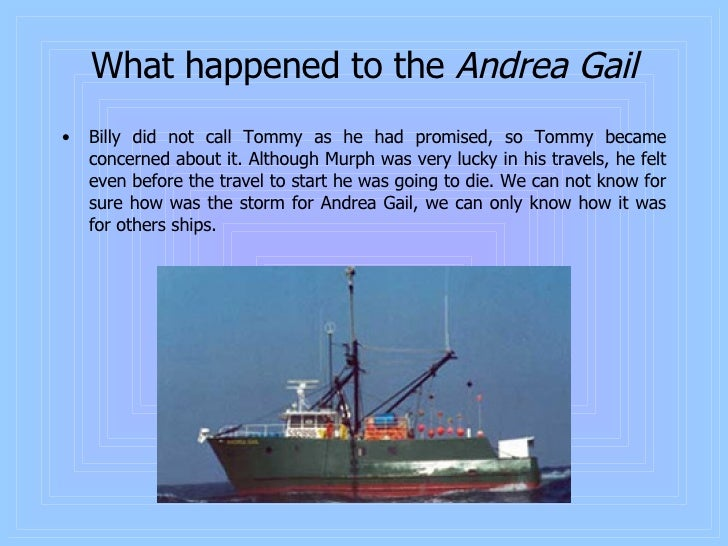 what year did the andrea gail sink