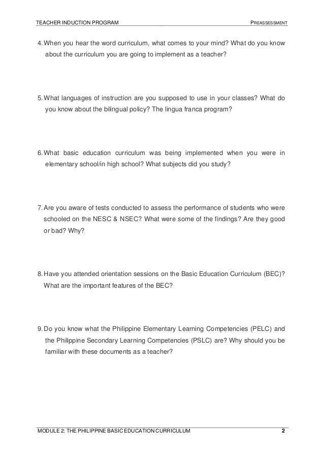 The philippine-basic-education-curriculum