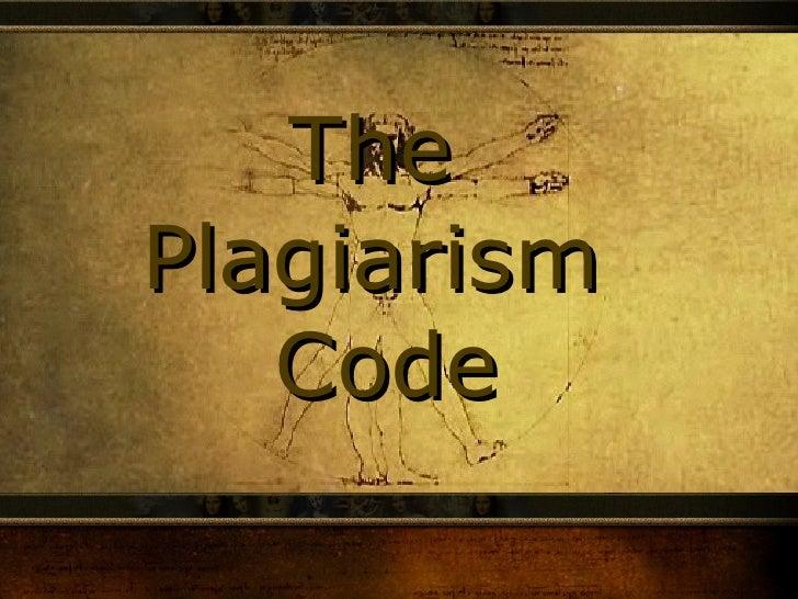 The  Plagiarism  Code