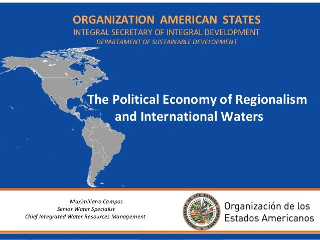 ORGANIZATION BackgroundAMERICAN STATES INTEGRAL SECRETARY OF INTEGRAL DEVELOPMENT DEPARTAMENT OF SUSTAINABLE DEVELOPMENT  ...