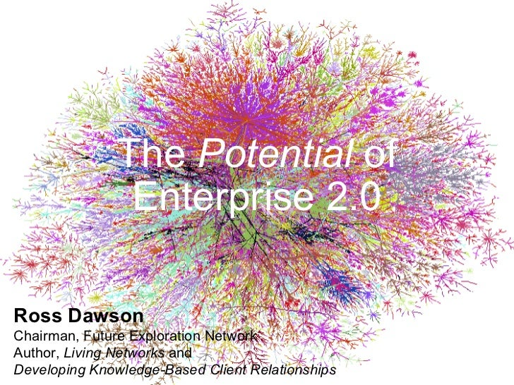 The  Potential  of Enterprise 2.0 Ross Dawson Chairman, Future Exploration Network Author,  Living Networks  and Developin...