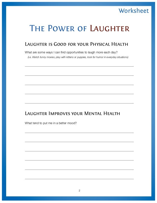 the power of laughter worksheet. Black Bedroom Furniture Sets. Home Design Ideas