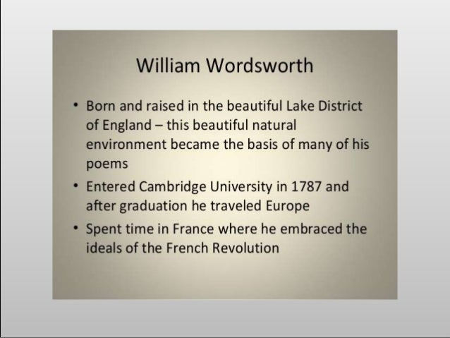 an analysis of wordsworths writing style Before wordsworth began writing his revolutionary new style of poetry, all preceding poetry had a very different style the reason these poems were classed as revolutionary was because analysis of william wordsworth's 'the world is too much with us' 1297 words | 5 pages the world is too much with us by william.
