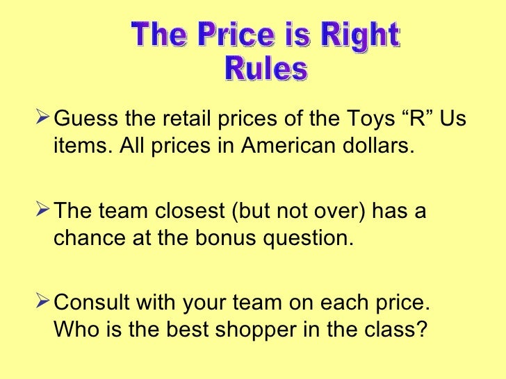Toys R Us Prices : The price is right toys r us