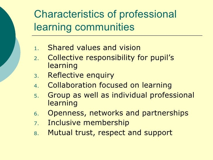 "thesis on professional learning community Implementing effective professional learning communities ""professional learning communities,"" the name given to teachers  professional learning community."