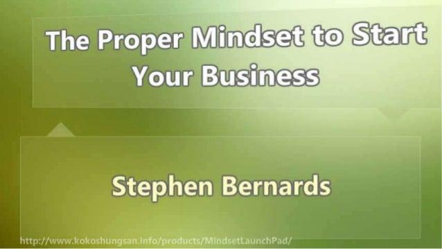 The Proper Mindset to Start Your Business Slide 2