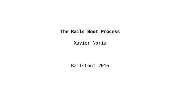 The Rails Boot Process