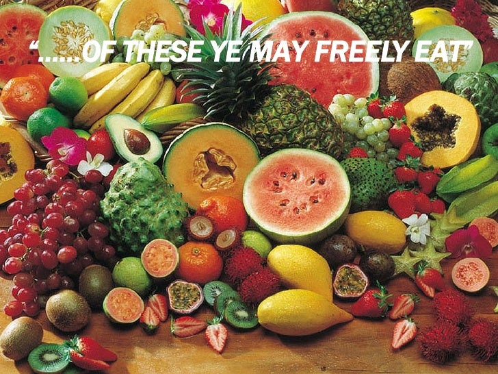 """"""" ......OF THESE YE MAY FREELY EAT"""""""