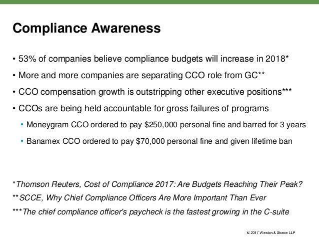 The real deal webinar series practical advice from a former chief co - Moneygram compliance officer ...