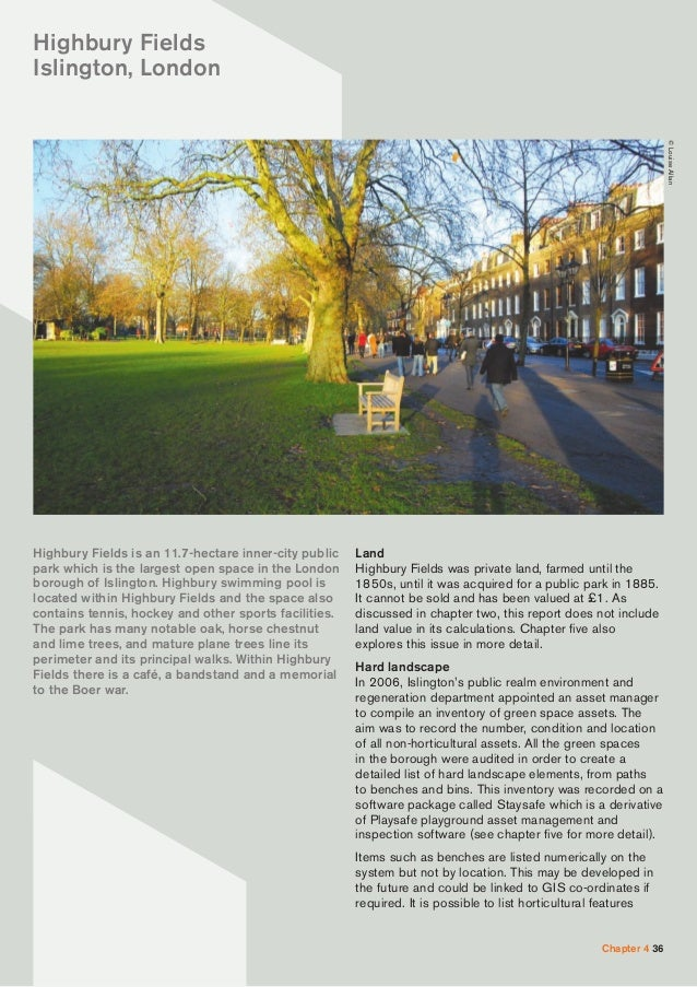 The real value of park assets - Swimming pool highbury and islington ...