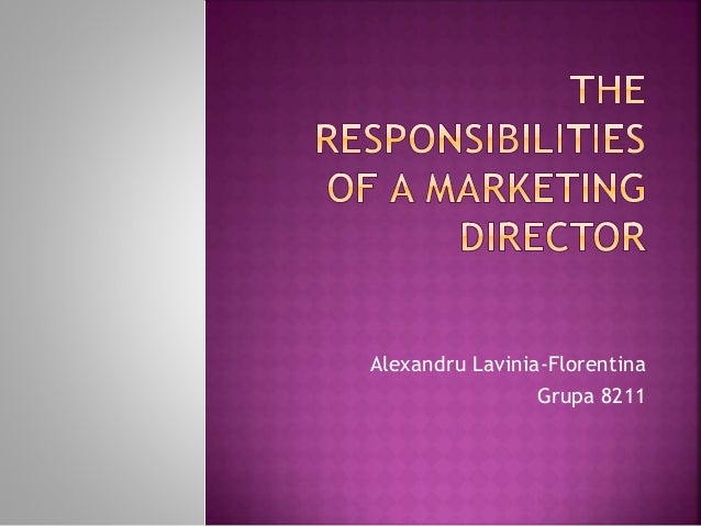 responsibilities of a marketing director