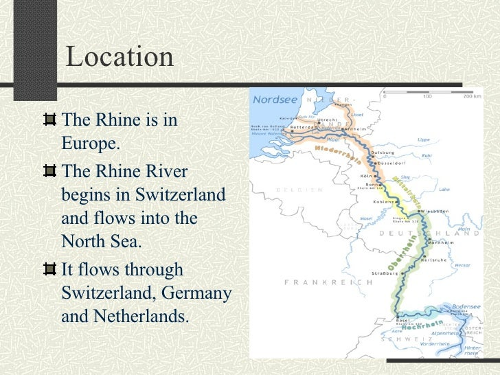 Where Is The Rhine River Located In Europe
