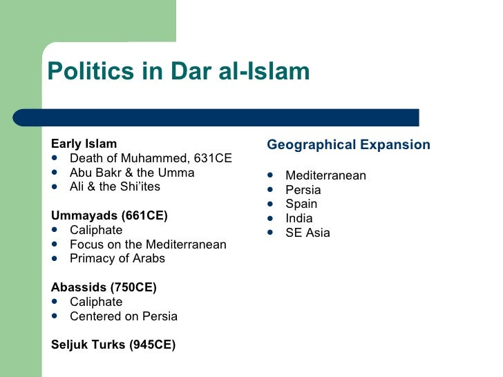 song china and dar al islam Maintained and would facilitate the rise and spread of dar al islam  and porcelain from china, spices from  introduce islam in the post-classical era .