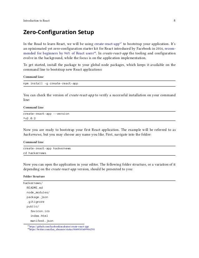 Introduction to React 9 src/ App.css App.js App.test.js index.css index.js logo.svg serviceWorker.js This is a breakdown o...
