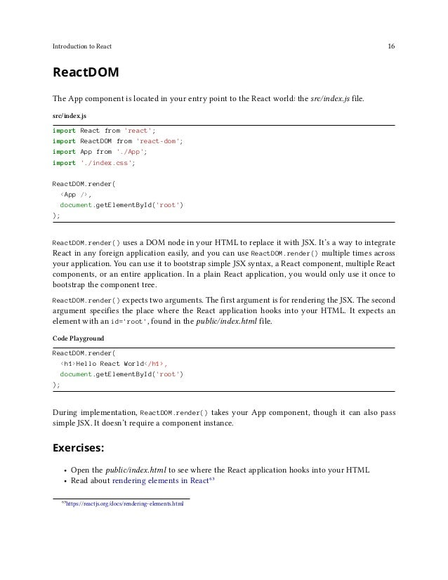 Introduction to React 17 Hot Module Replacement Hot Module Replacement can be used in the src/index.js file to improve you...
