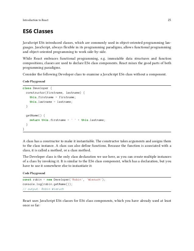 Introduction to React 26 src/App.js import React, { Component } from 'react'; ... class App extends Component { render() {...