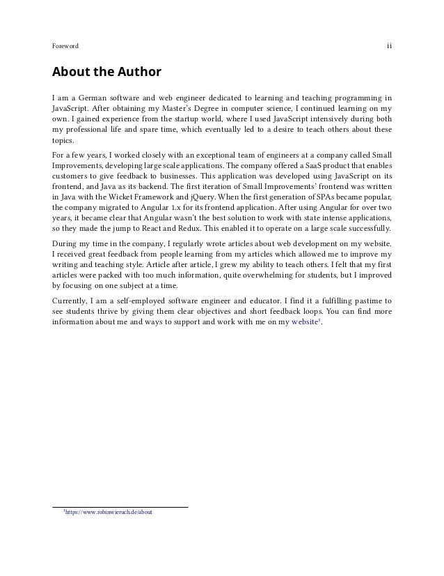 Foreword iii Testimonials There are many testimonials², ratings³ and reviews⁴ about the book that you can read to ascertai...