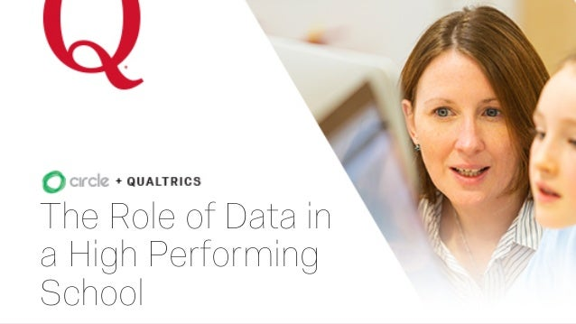The Role of Data in a High Performing School