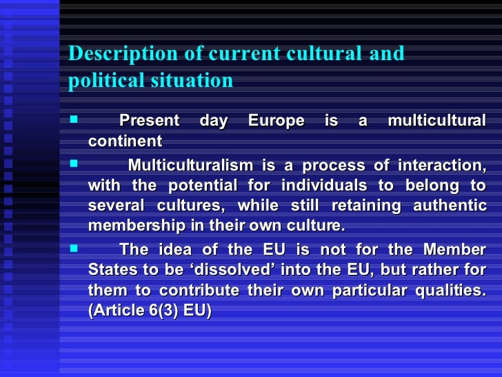 """history of the european identity Founding treaties define european identity politically, starting from the motto """" unity in  historical and pre-political background of building european identity."""