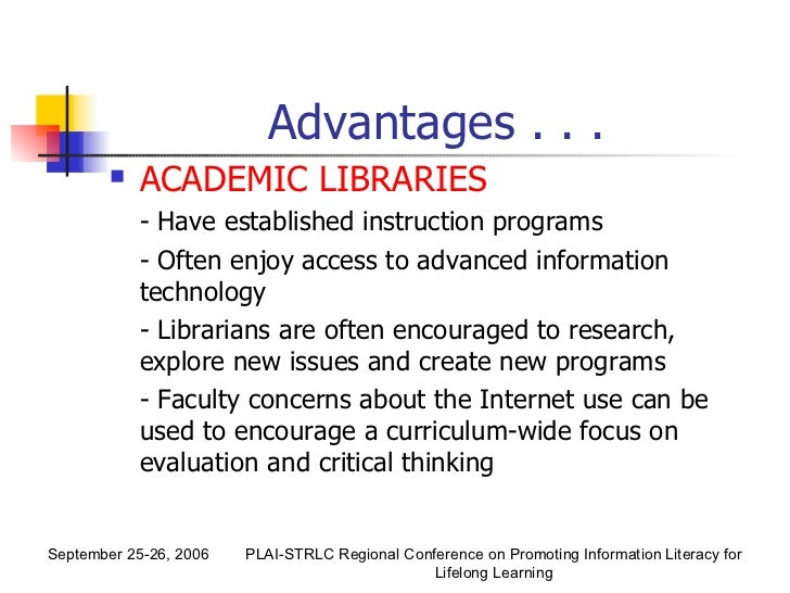 role of library Increasingly librarians have assumed the role of educator to teach their users how to find information both in the library and over electronic networks public librarians have expanded their roles by providing local community information through publicly accessible computing systems.