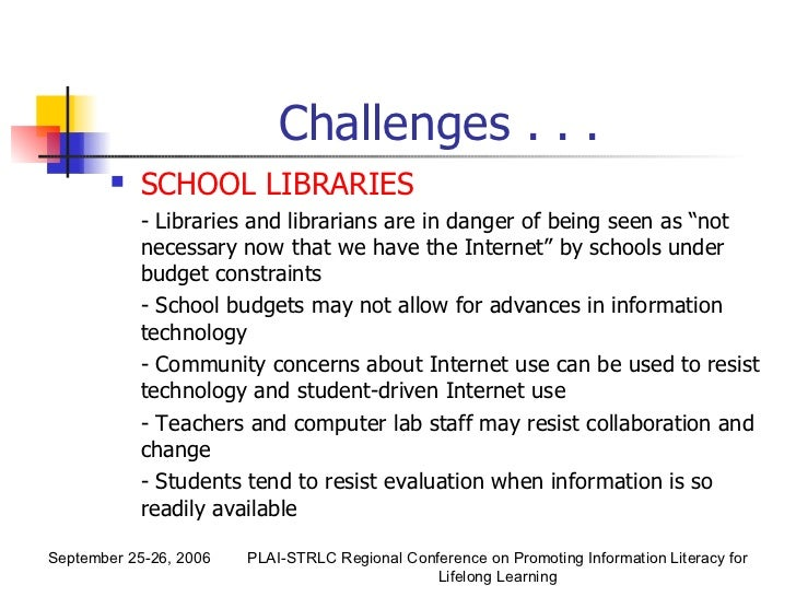 the role of library resources in Keywords: open educational resources, academic library, open source  the  role of the academic librarian is continually evolving, but one.