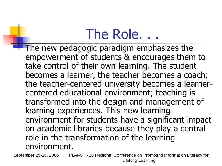 the role and importance of academic literacy In order for our students to engage in academic conversation (read this edutopia post for ideas on how to set up and manage your classroom library) what role does literacy play in your classroom what are some ways you weave instruction in reading.