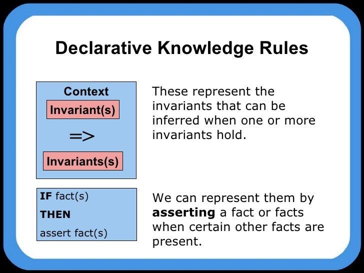 procedural vs declarative knowledge pdf
