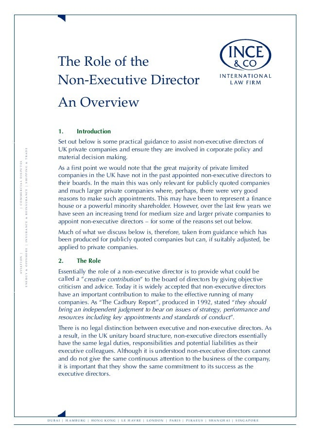 What are the key differences between an executive and a non